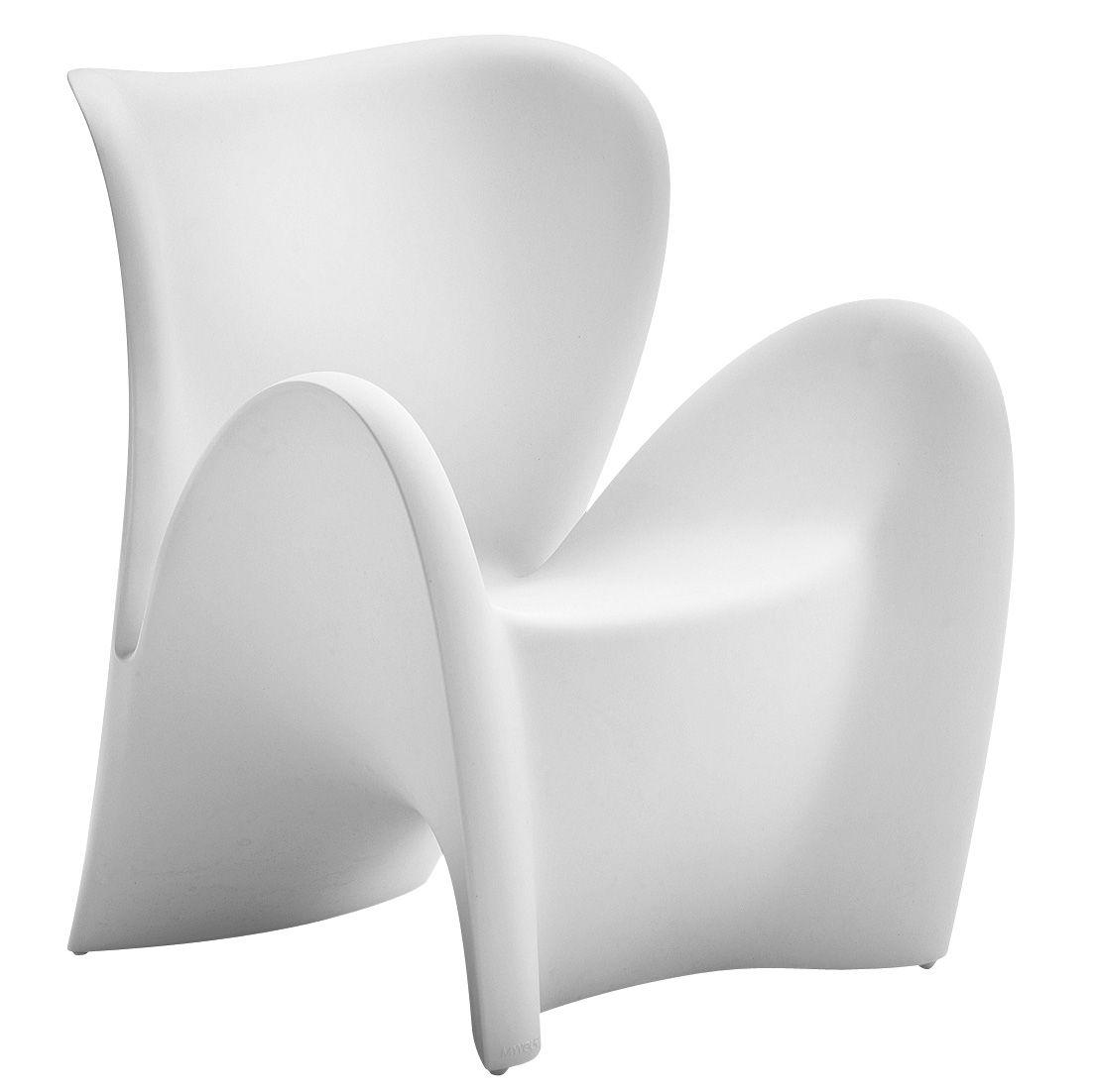 fauteuil lily plastique blanc mat myyour. Black Bedroom Furniture Sets. Home Design Ideas