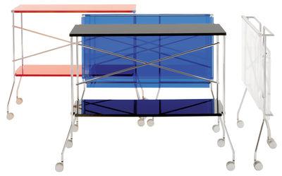 Arredo Ufficio Kartell : Scopri carrello flip trasparente di kartell made in design italia