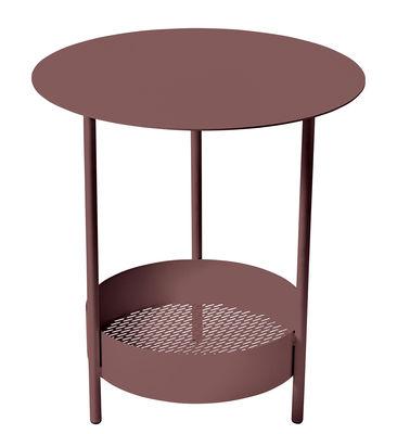 Foto Tavolino con piede centrale Salsa / Ø 50 x H 50 cm - Fermob - Ruggine - Metallo Tavolino rotondo