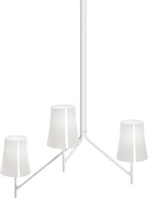 Birdie Pendelleuchte 3 Arme - feste Höhe - Foscarini - Weiß