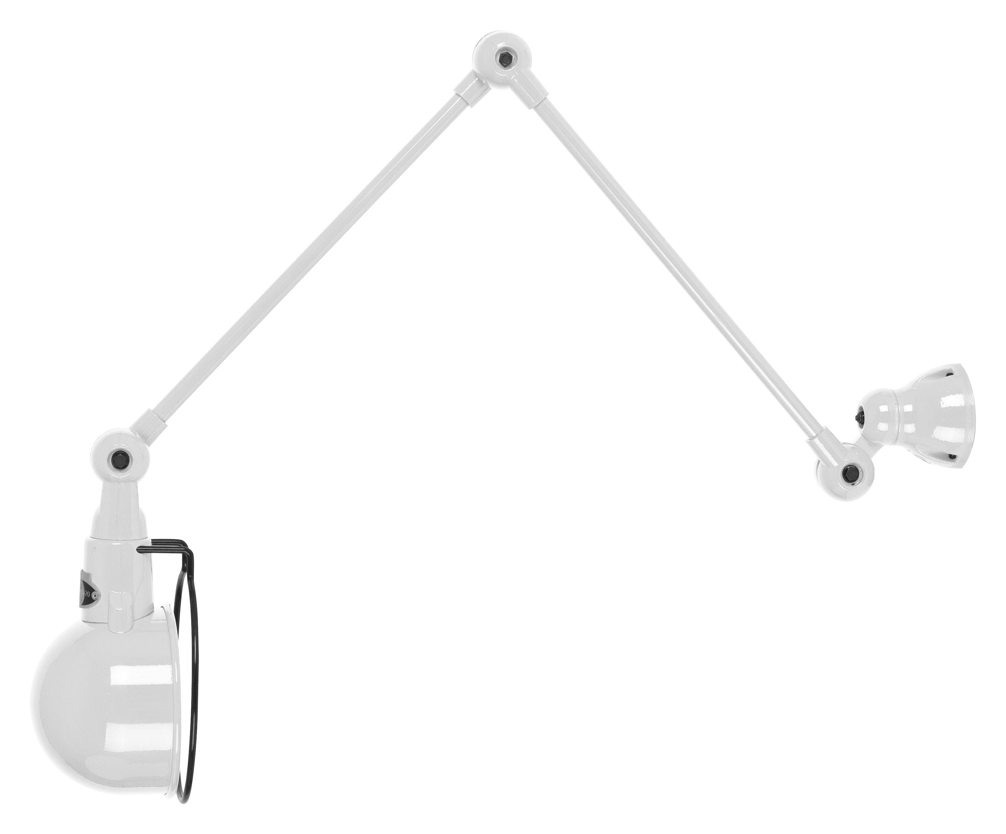 applique signal 2 bras l max 60 cm blanc brillant jield. Black Bedroom Furniture Sets. Home Design Ideas