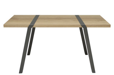 Pi Tisch / Schreibtisch - L 150 cm - Moaroom - Metall-Grau