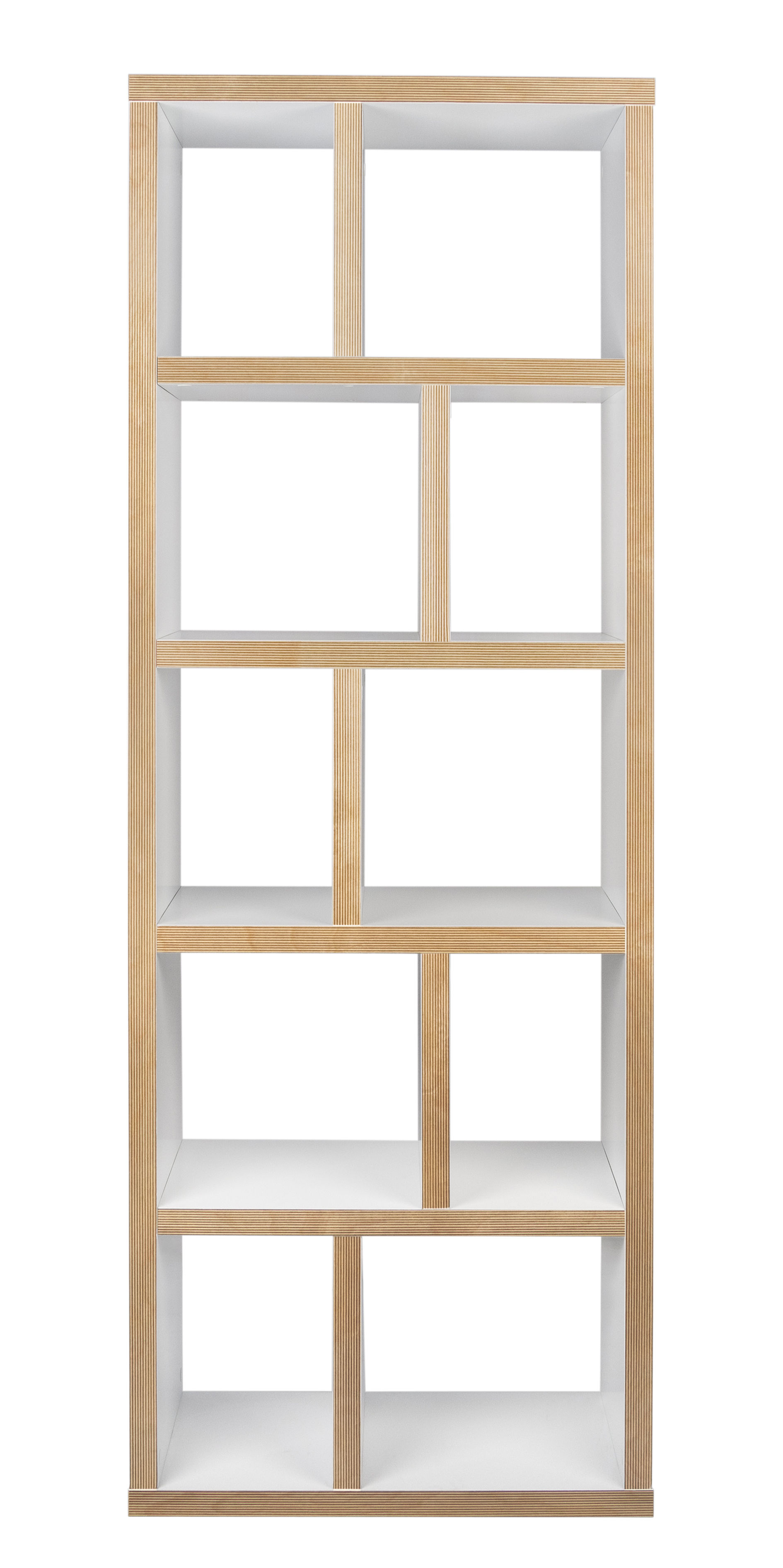 biblioth que rotterdam l 70 x h 198 cm blanc tranches bois pop up home. Black Bedroom Furniture Sets. Home Design Ideas