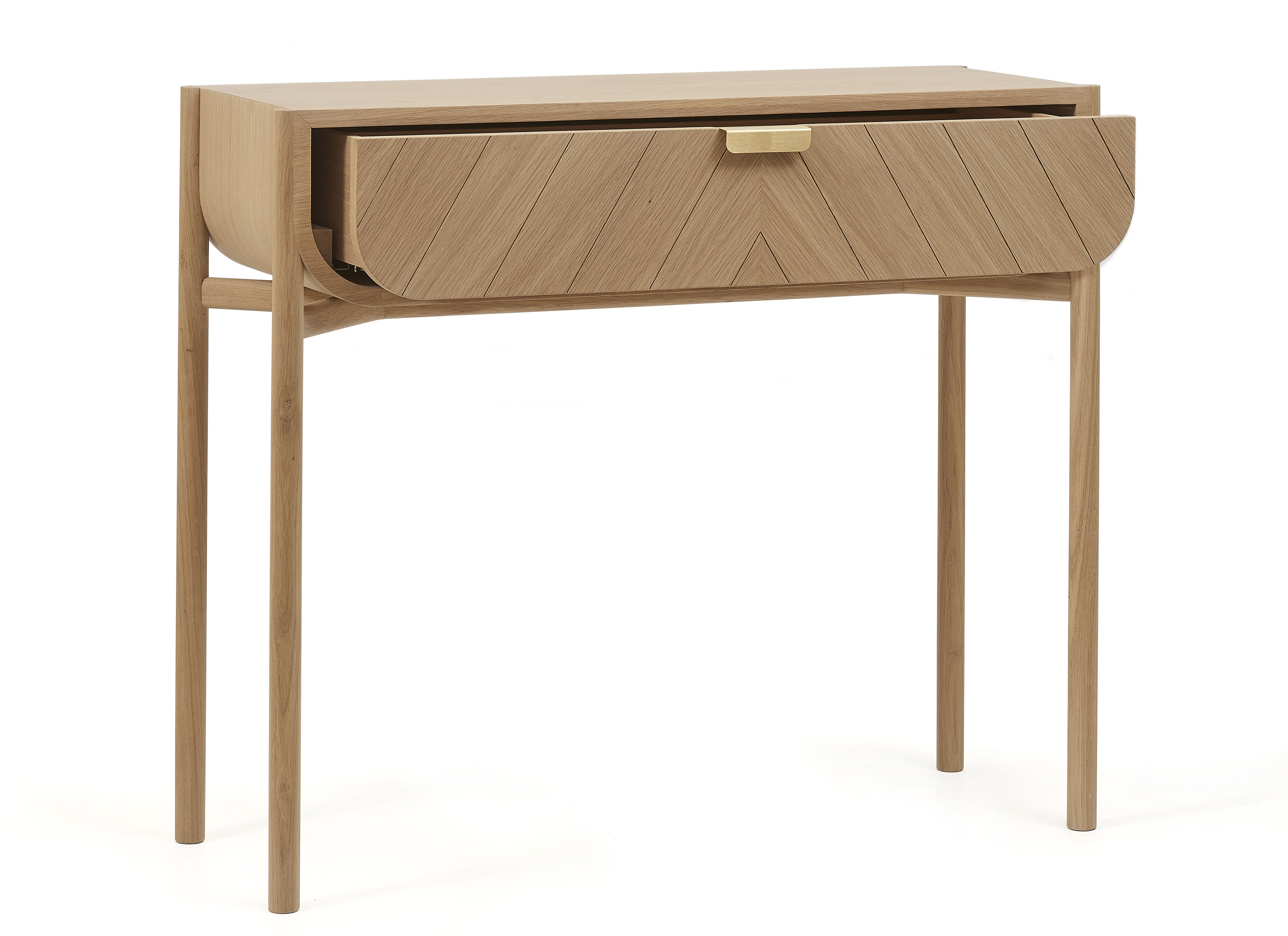 marius console with drawer l 100 cm natural oak by hart. Black Bedroom Furniture Sets. Home Design Ideas