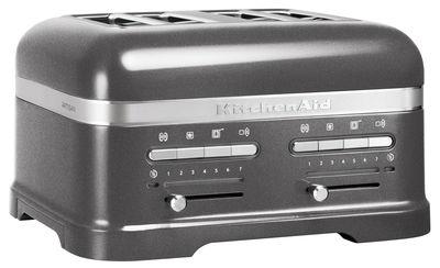 Grille pain Artisan 4 tranches Artisan Capteur de chaleur électronique KitchenAid gris étain en métal