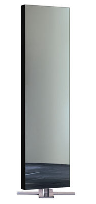 Mobilier - Miroirs - Miroir sur pied Giano / à poser au sol - L 50 x H 180 cm - Glas Italia - Laqué noir - Métal satiné, Verre