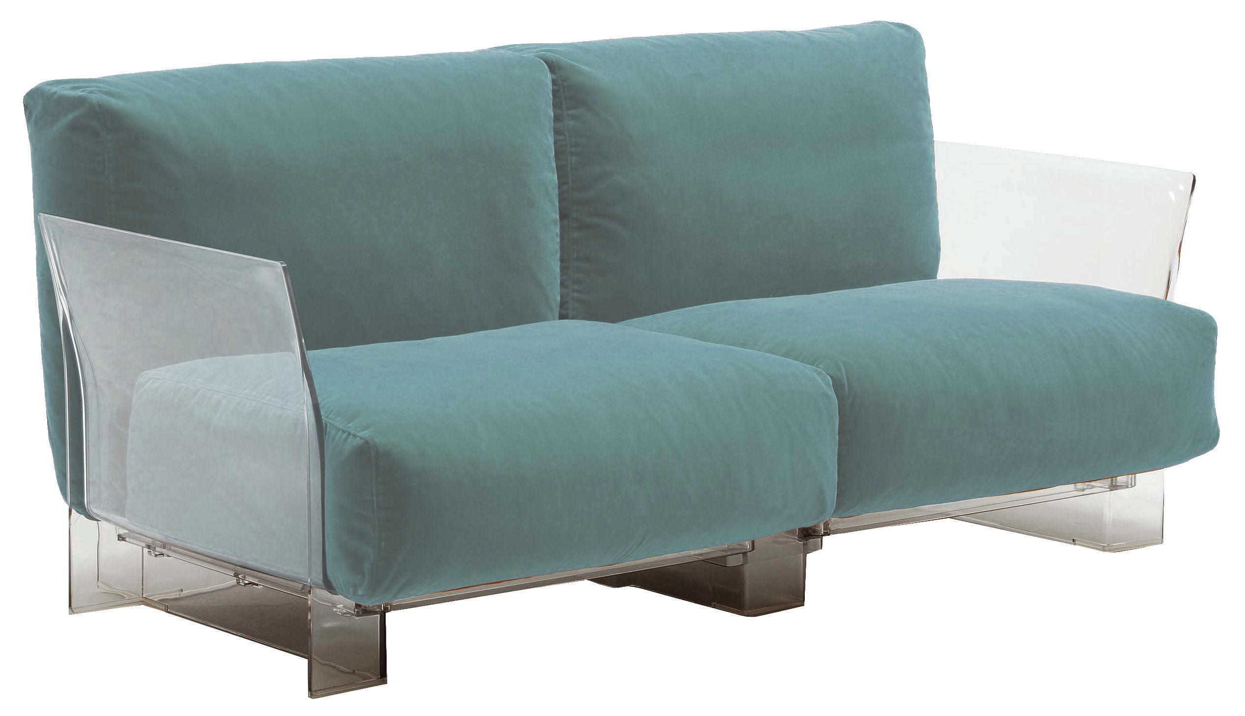 canap droit pop outdoor 2 places l 175 cm bleu ciel kartell. Black Bedroom Furniture Sets. Home Design Ideas