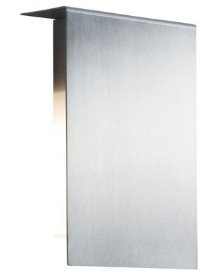 Lighting - Wall lamps - Corrubedo Outdoor Wall light by Fontana Arte - Stainless steel - Satin stainless steel