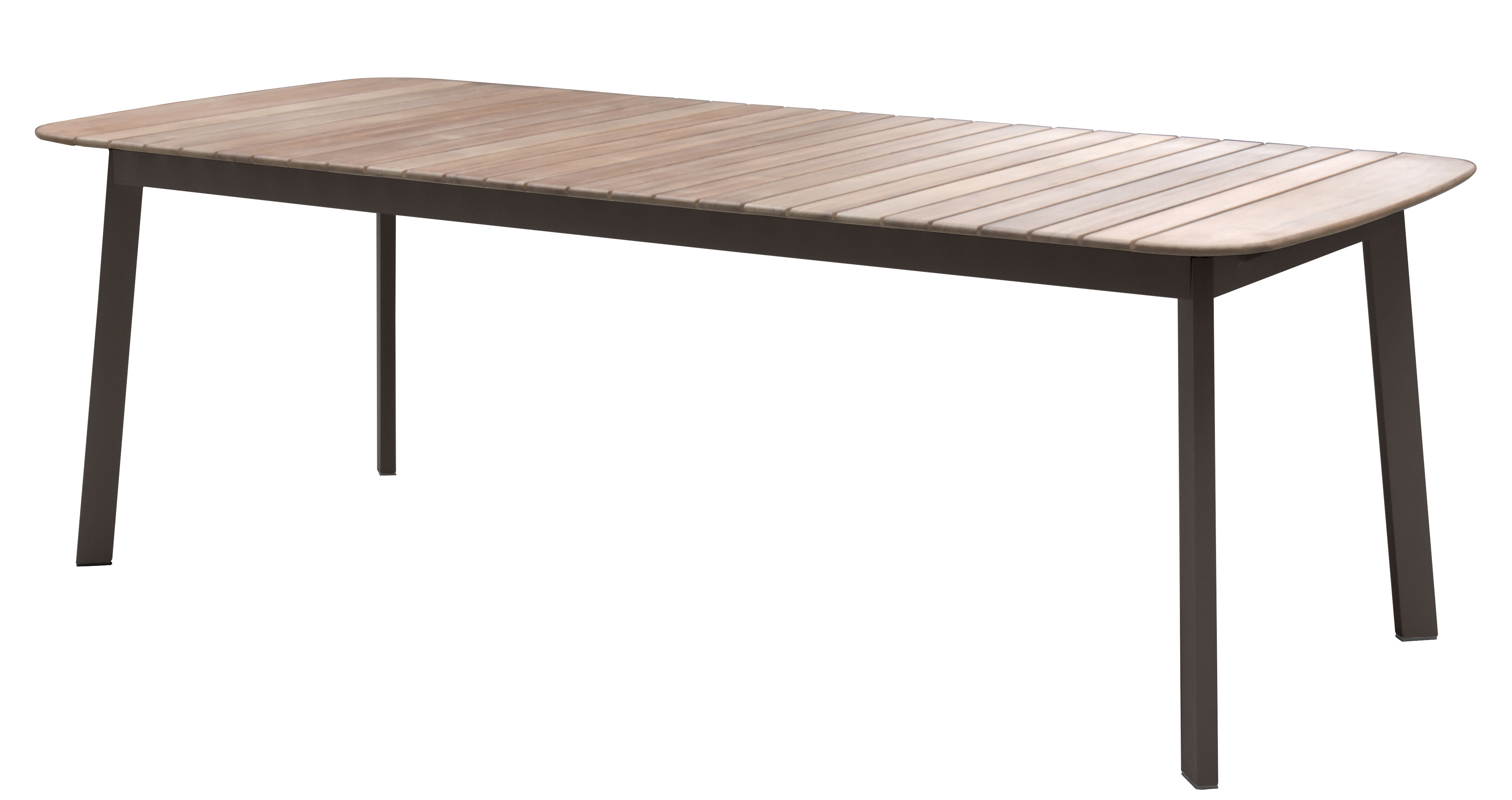 table shine plateau teck 225 x 100 cm marron d 39 inde plateau teck emu. Black Bedroom Furniture Sets. Home Design Ideas