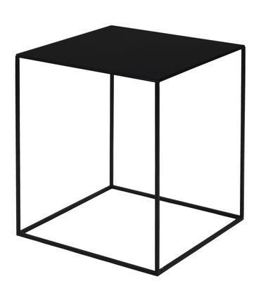 Table basse Slim Irony / 41 x 41 x H 46 cm - Zeus noir cuivré en métal