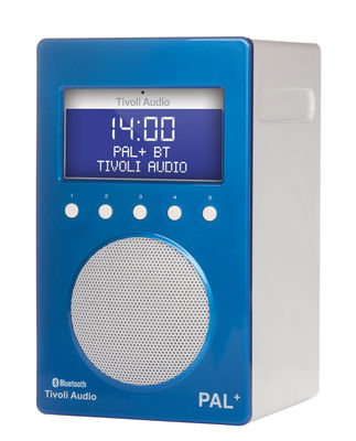Radio Pal BT Enceinte portative Bluetooth Tuner digital Tivoli Audio blanc,bleu brillant en matière plastique