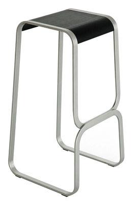 Foto Sgabello bar Continuum - H 80 cm di Lapalma - Nero,Metallo opaco - Legno