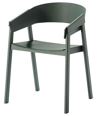 Mobilier - Chaises, fauteuils de salle à manger - Fauteuil Cover / Bois - Muuto - Vert - Frêne laqué