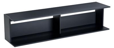 Mobilier - Tables basses - Console basse Scott / L 145 cm - Zanotta - Noir - MDF verni