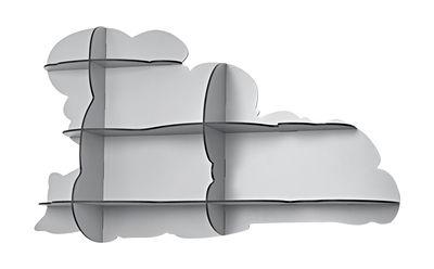 Etagère Nimbus / L 108 x H 64 cm - Ibride gris clair mat en matière plastique