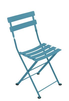 Chaise enfant Tom Pouce Pliante Acier Fermob turquoise en métal