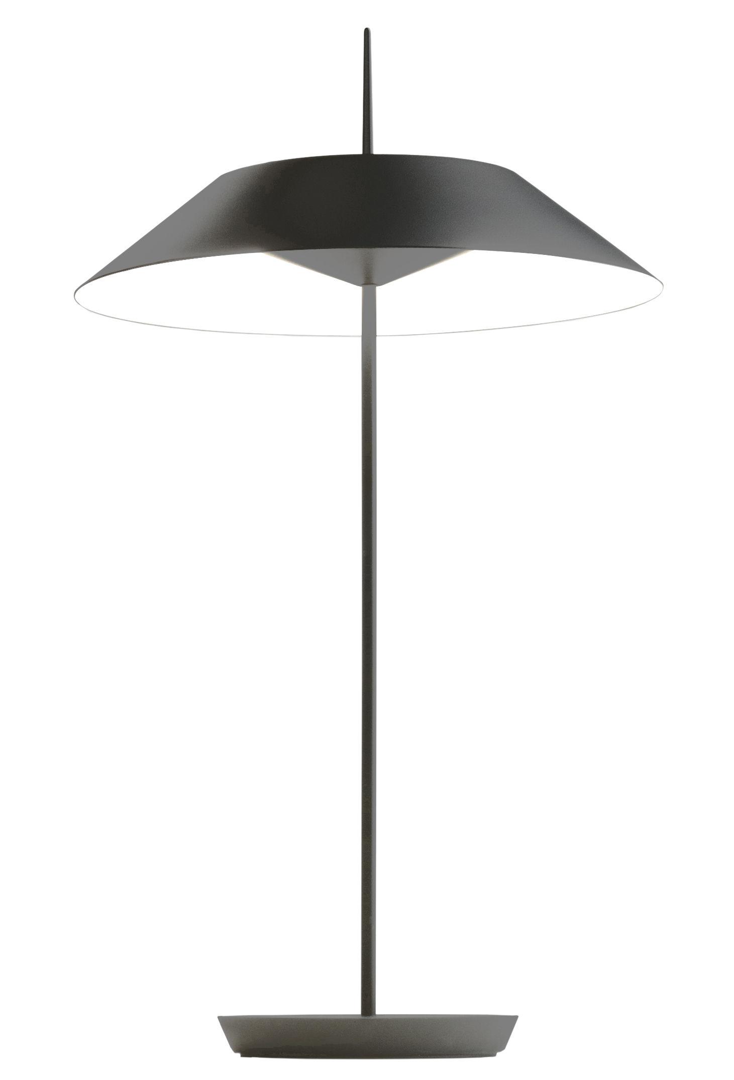 Lampe de table mayfair led h 52 cm graphite mat vibia for Table a repasser largeur 52 cm