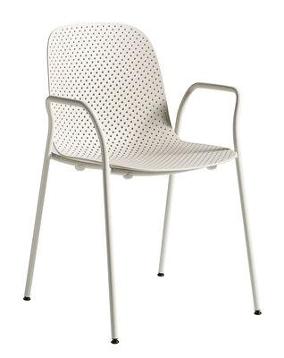 13eighty Stapelbarer Sessel / Kunststoff, perforiert - Hay - Weiß