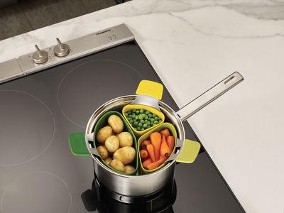 Panier vapeur nest steam set de 3 vert jaune joseph for Ustensiles de cuisine joseph