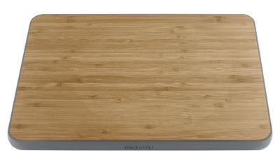 Cuisine - Ustensiles de cuisines - Planche à découper / Bambou et silicone - Eva Solo - Gris / Bambou - Bambou, Silicone