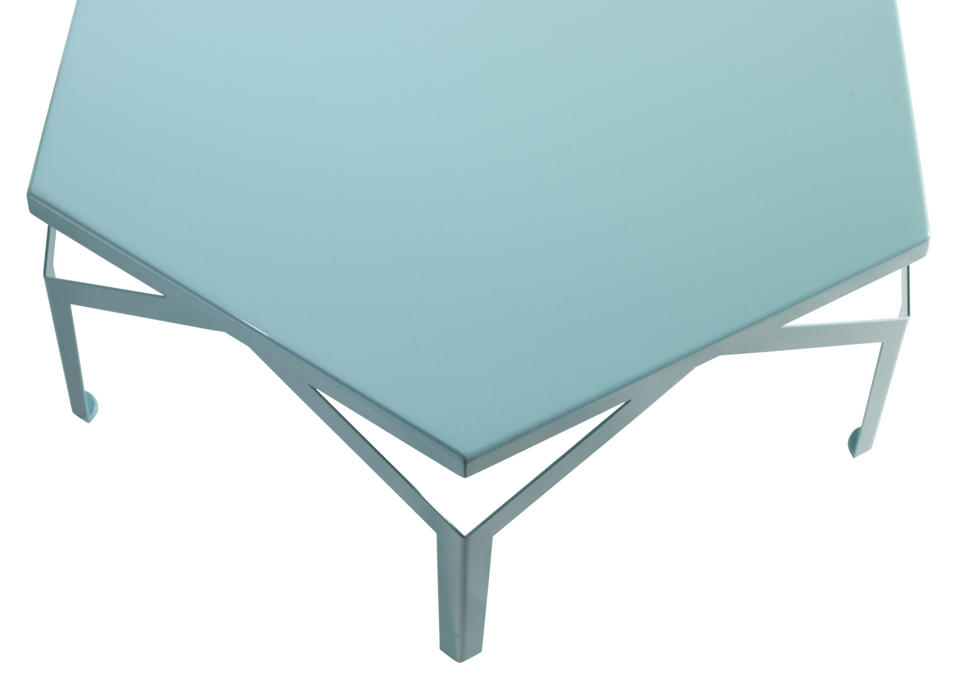 Fano coffee table h 30 5 cm x l 80 5 cm blue by for Coffee table 80 x 80