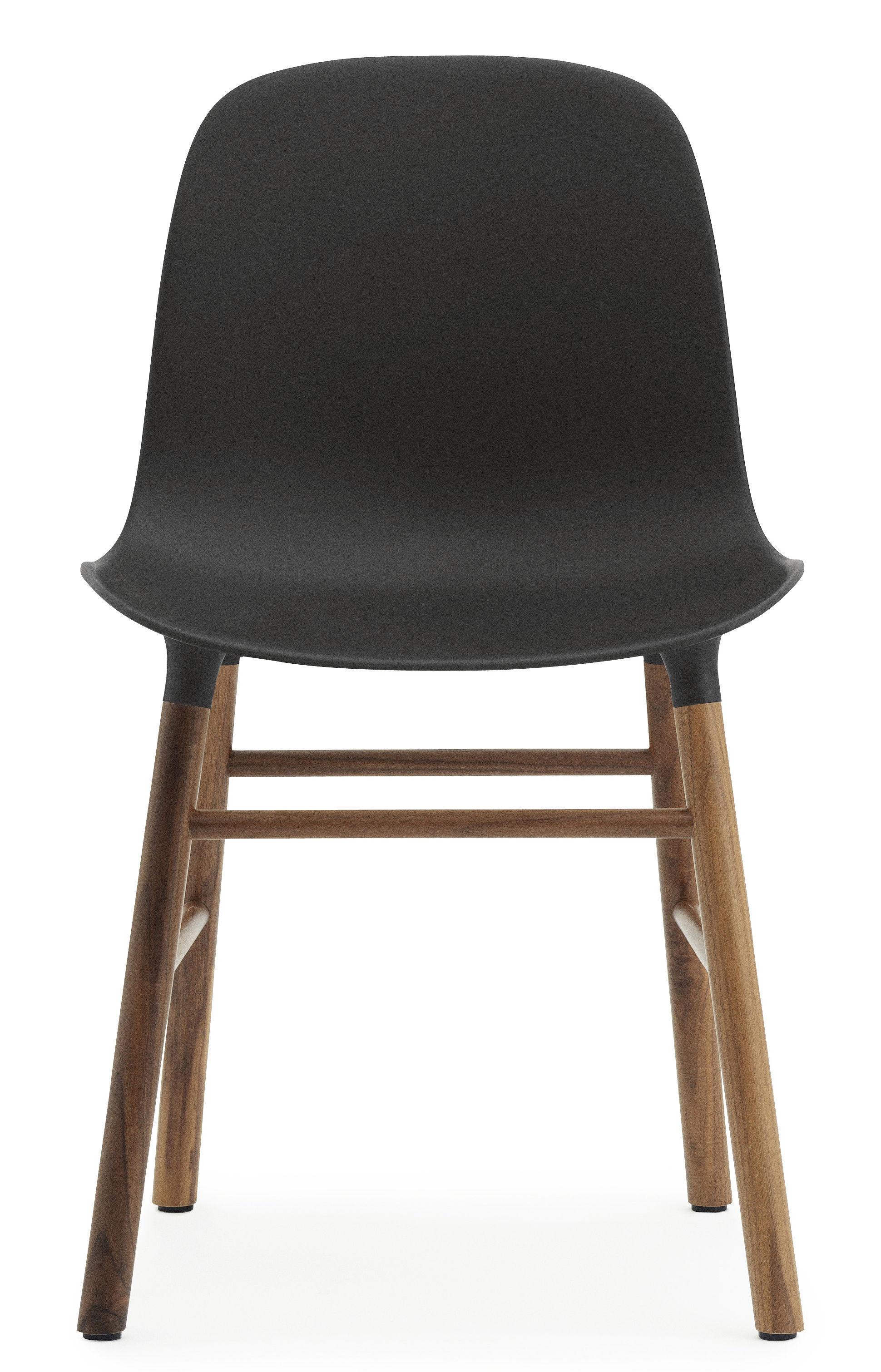 Chaise form pied noyer noir noyer normann copenhagen for Chaise sans pied