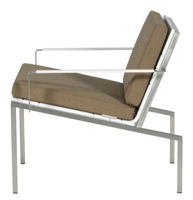 Foto Cuscino da seduta per poltrona bassa Bandoline - Viteo - Sabbia - Tessuto