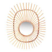 Specchio Bamboo Oval - / Ratta...