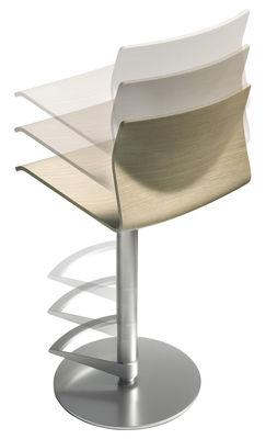 tabouret haut r glable kai assise bois pivotante noir vein lapalma. Black Bedroom Furniture Sets. Home Design Ideas