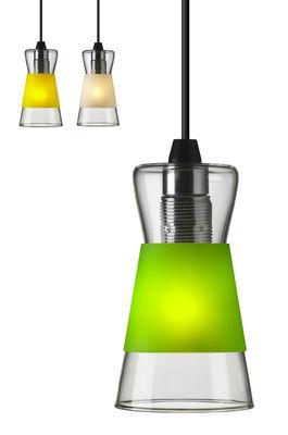 Suspension Pure / Avec 3 bagues colorées interchangeables - Authentics blanc,jaune,vert en verre