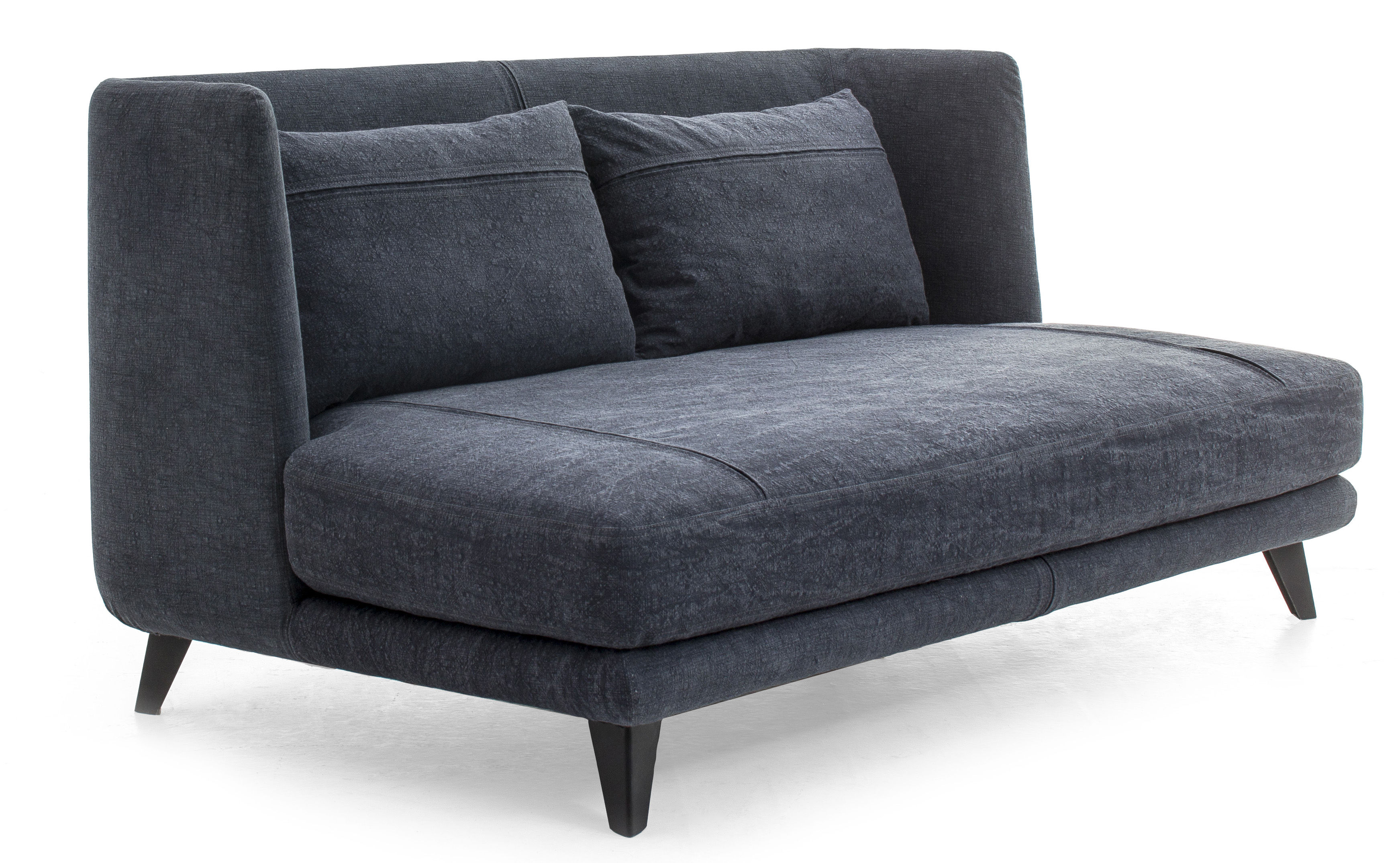 Gimme More Straight sofa L 160 2 seaters Dark blue jean by