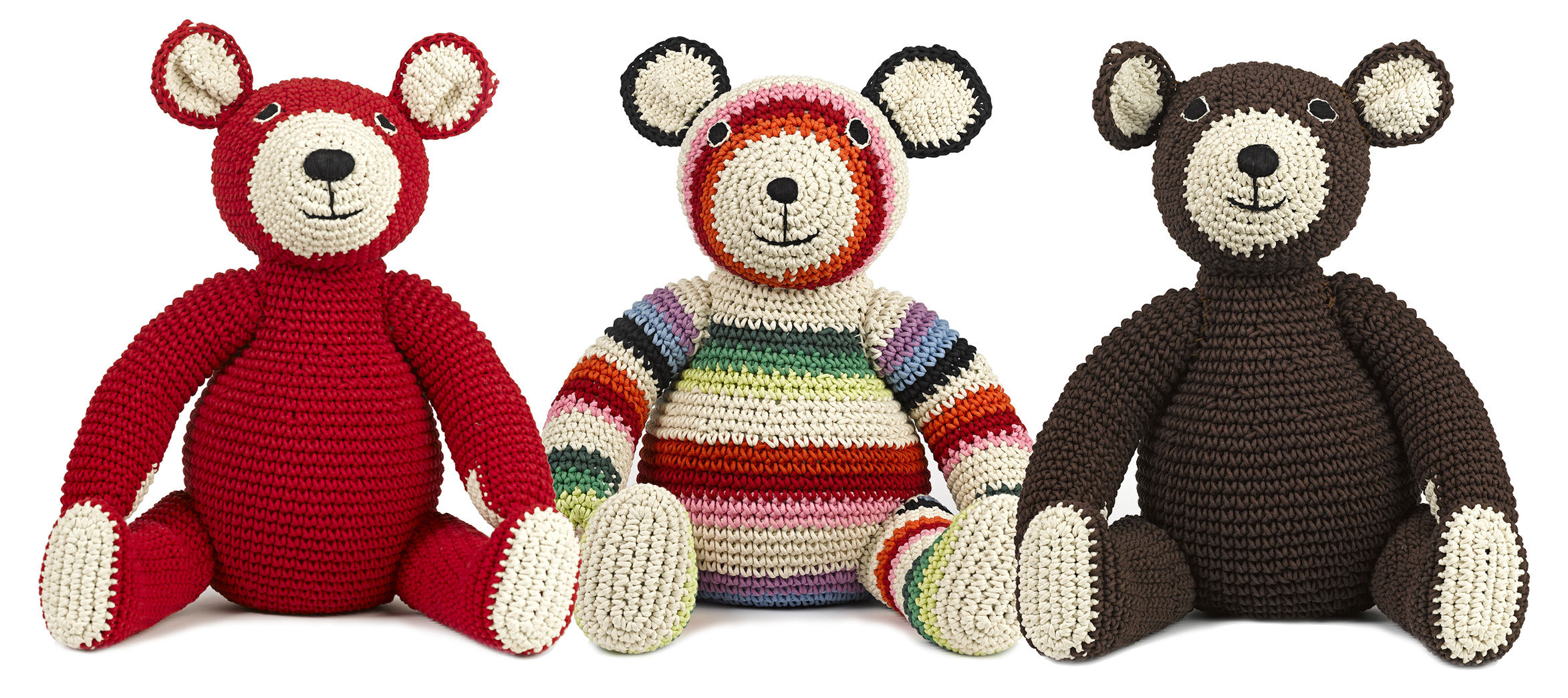 mama teddy cuddly toy crochet cuddly toy red by anne claire petit made in design uk. Black Bedroom Furniture Sets. Home Design Ideas