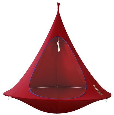 Jardin - Chaises longues et hamacs - Fauteuil suspendu / Tente - Ø 180 cm - 2 personnes - Cacoon - Rouge - Aluminium anodisé, Toile
