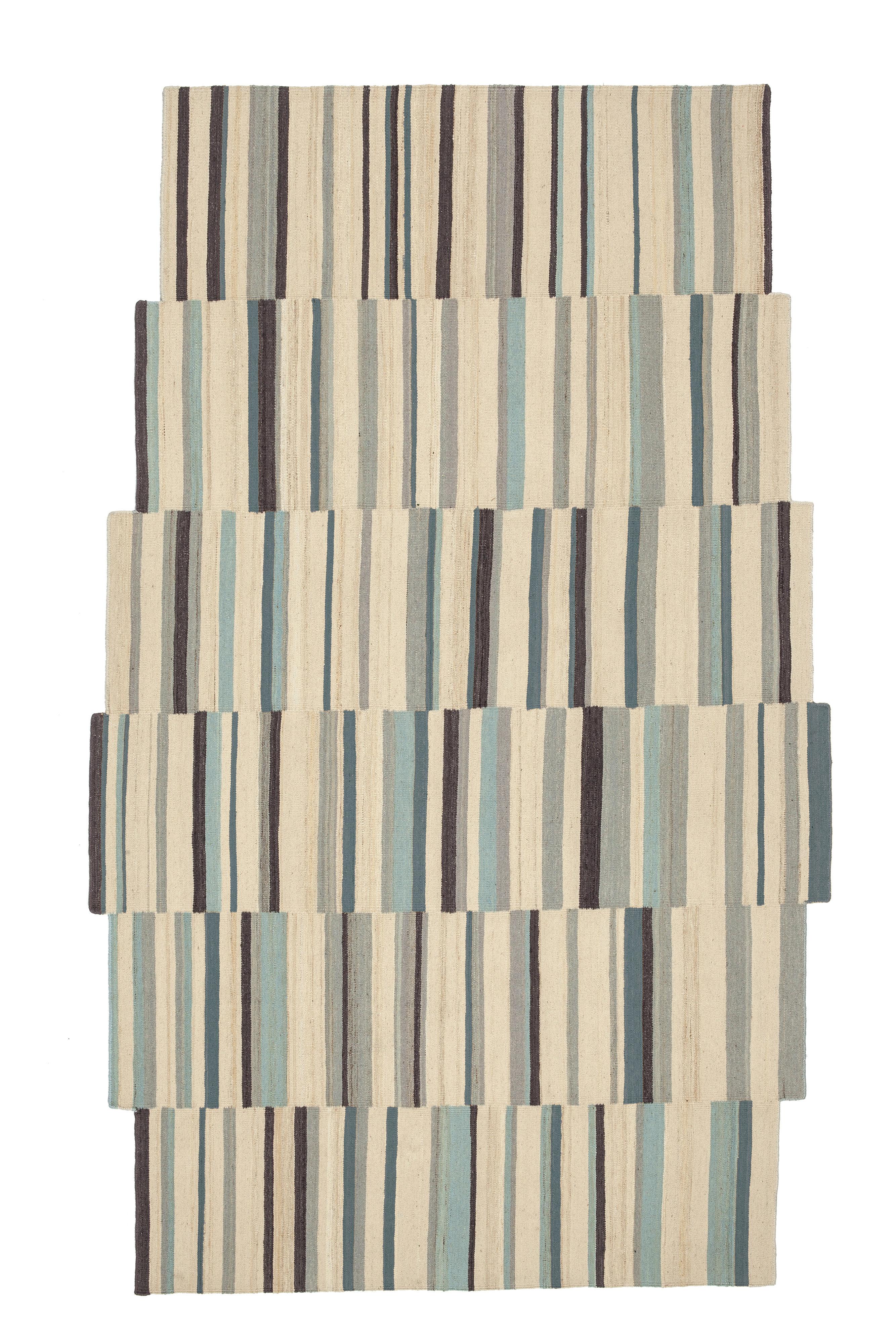 Tapis lattice 2 148 x 240 cm tons crus multicolore - Made in design tapis ...
