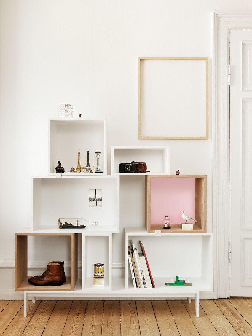 etag re stacked medium carr 43x43 cm avec fond color fr ne fond rose p le muuto made. Black Bedroom Furniture Sets. Home Design Ideas