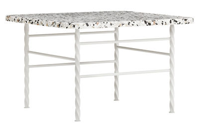 Tavolino Terra Large - / 55 x 55 x H 36 cm - Terrazzo di Normann Copenhagen - Beige - Pietra