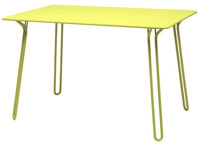 Table Surprising / 120 x 78 cm - Fermob verveine en métal