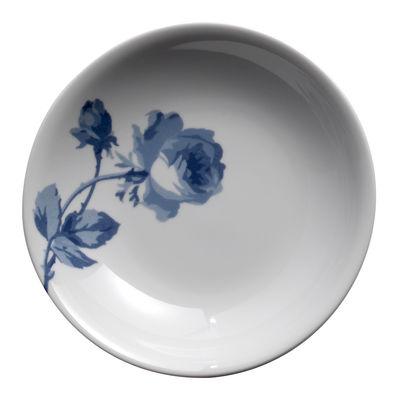 Foto Piatto fondo The White Snow Elizabeth - Ø 22 cm di Driade Kosmo - Bianco,Blu - Ceramica