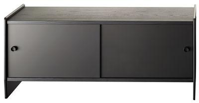 Buffet Theca - / Bassa - L 123 x H 55 cm di Magis - Nero - Metallo