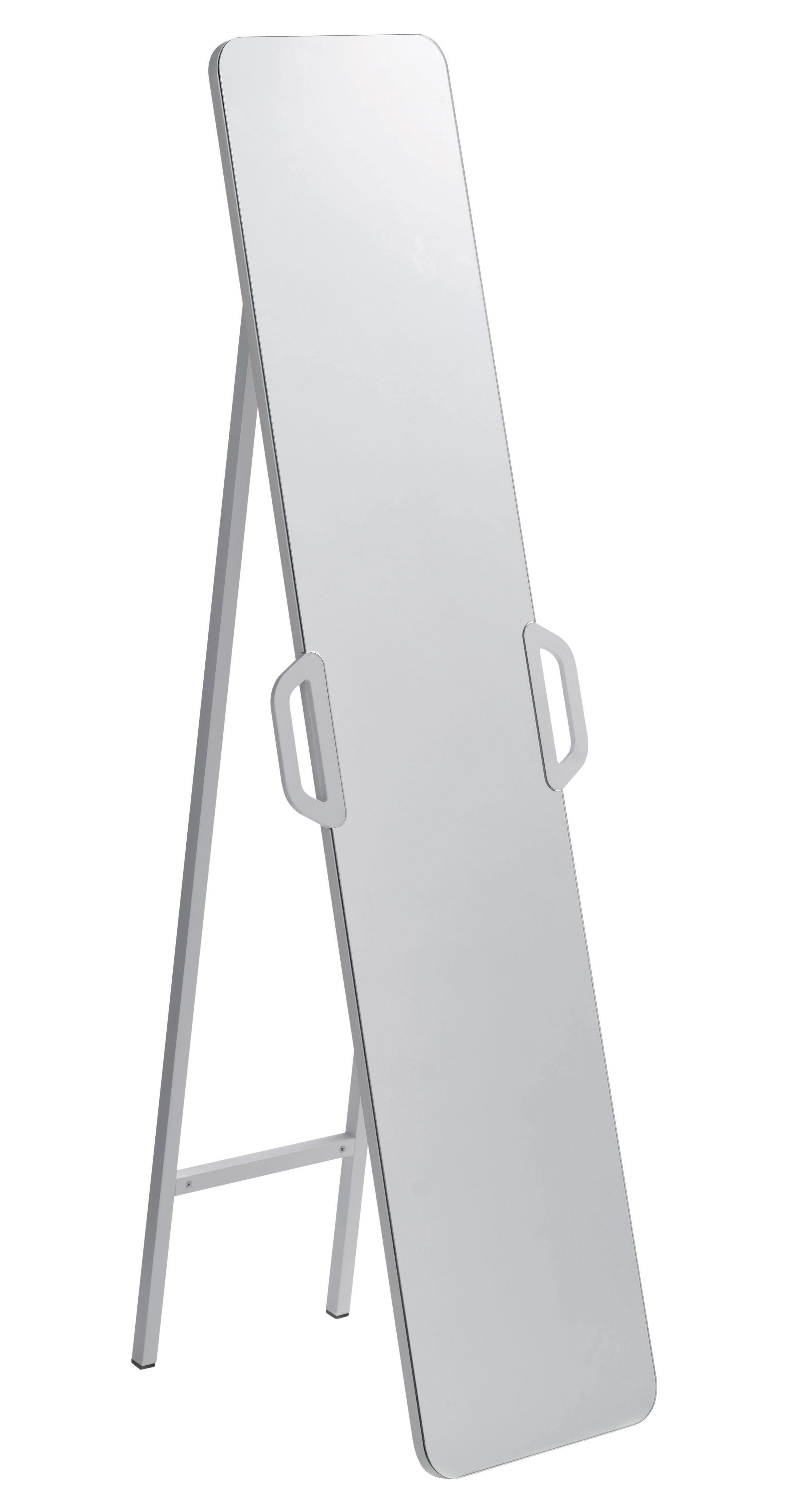 miroir pr t porter sur pied ou mural l 42 x h 145 cm blanc casamania. Black Bedroom Furniture Sets. Home Design Ideas