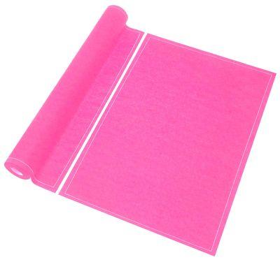 set de table my drap rouleau de 12 sets de table en tissu pr d coup s rose virages made in. Black Bedroom Furniture Sets. Home Design Ideas