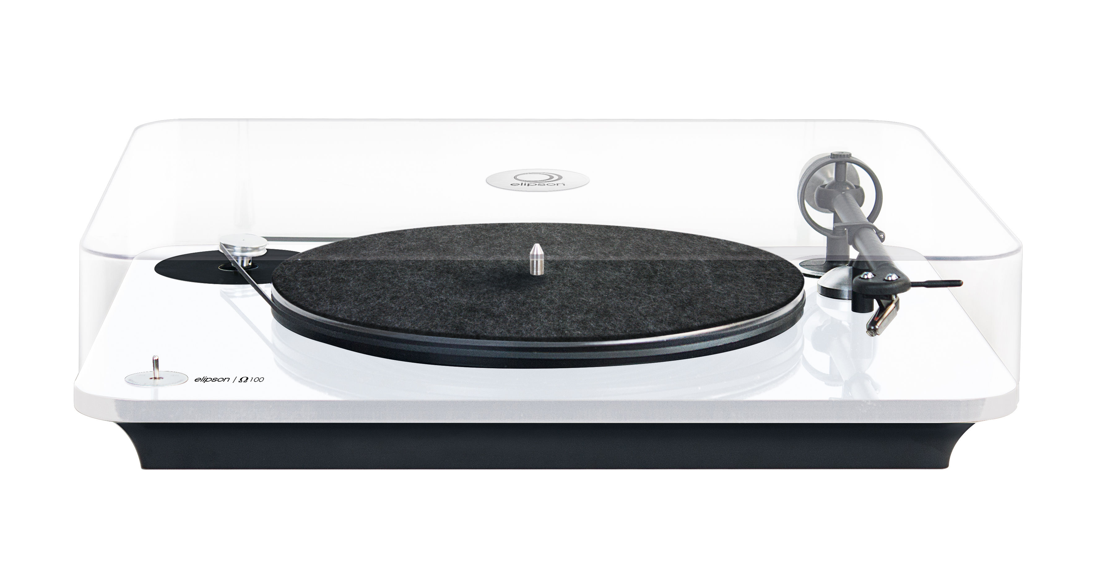 platine vinyle omega non amplifi e blanc elipson. Black Bedroom Furniture Sets. Home Design Ideas