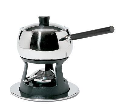 Service à fondue Mami / Pour fondue Bourguignonne - Alessi noir,acier en métal