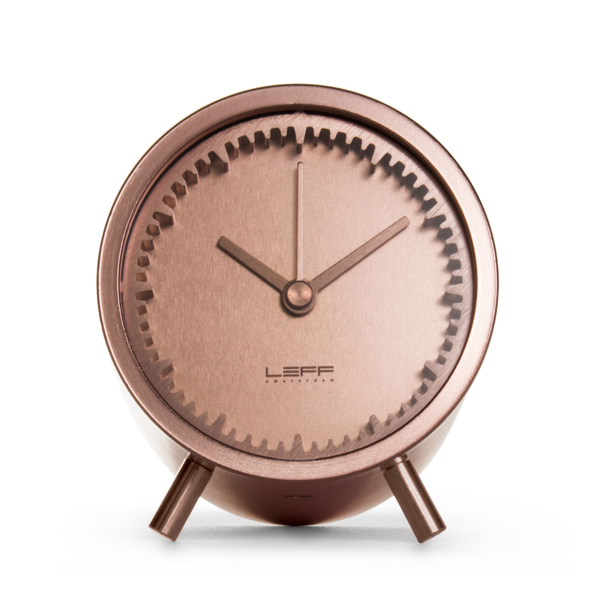 Horloge poser tube 5 cm cuivre leff amsterdam - Horloge a poser design ...