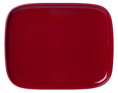Arts de la table - Assiettes - Assiette à dessert Oiva / 12 x 15 cm - Marimekko - Rouge - Porcelaine émaillée