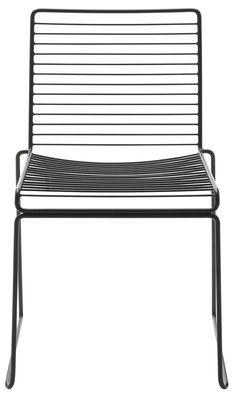 Furniture - Chairs - Hee Stacking chair - Metal by Hay - Black - Lacquered steel