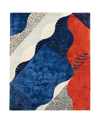 Tapis Silkscreen Large / 240 x 200 cm - Tufté main - Moustache multicolore en tissu