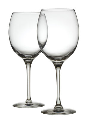 Arts de la table - Verres  - Verre à vin blanc Mami XL / Lot de 2 - Alessi - Transparent - Verre cristallin