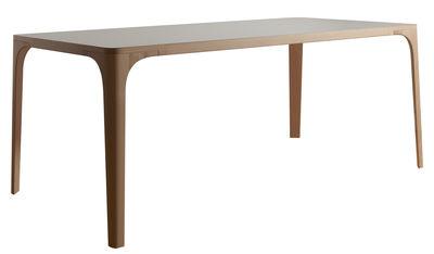 Mobilier - Tables - Table Arba / Bois - L 180 cm - Internoitaliano - Blanc / Pieds hêtre - Hêtre massif, Stratifié