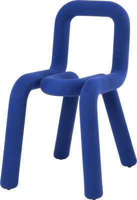 Mobilier - Chaises, fauteuils de salle à manger - Chaise rembourrée Bold / Tissu - Moustache - Bleu - Acier, Mousse polyuréthane, Tissu
